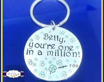 Personalised Thank You Gift  - One In A Million Keyring - One In A Million Gift - With Thanks Gift - Just Because Gift - Pick Me Up Gift