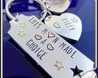 Personalised Step Dad Keyring