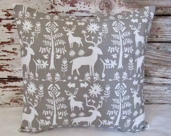 forest animals pillow cover