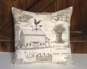 farm pillow cover/farmhouse pillow cover