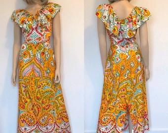 793993e4881 1970 s Bohemian Maxi Dress