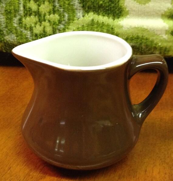 Cavalier Ironstone Creamer, Vintage Small Brown Ceramic Creamer