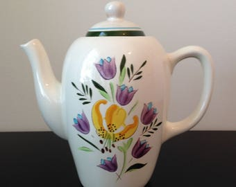 """Vintage Stangl """"Country Garden"""" Coffee Pot"""