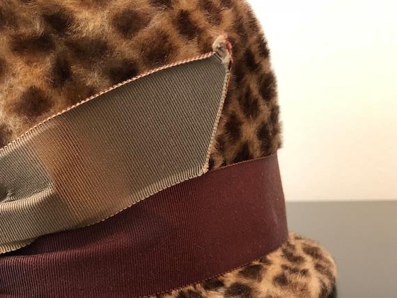 1960's Schiaparelli Hat, Vintage Brown Hat With D… - image 10