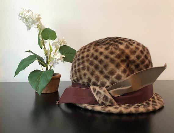 1960's Schiaparelli Hat, Vintage Brown Hat With D… - image 5
