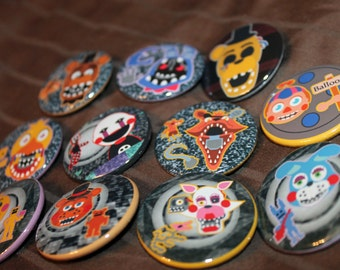 "Five Nights at Freddy's 2 - 1.5 "" Inch Button Sets"