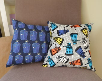 Dr. Who Throw Pillow