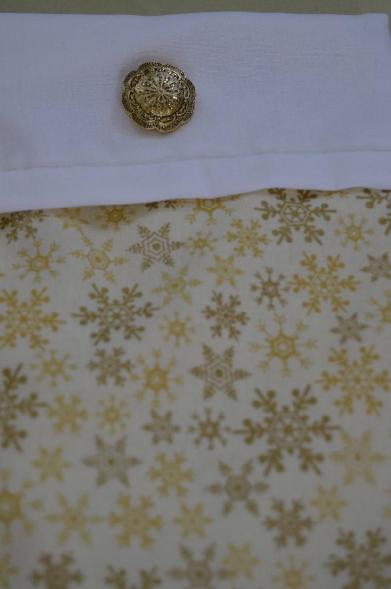Golden Snowflake Stocking