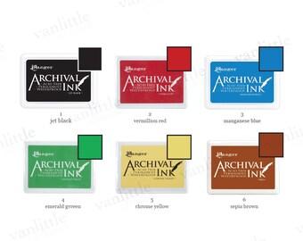"""6 x 4"""" Archival Ink Pad, Waterproof Ink Pad, Acid Free Ink Pad, Rubber Stamp Ink Pad"""