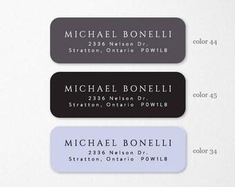 personalized return address labels custom self adhesive etsy