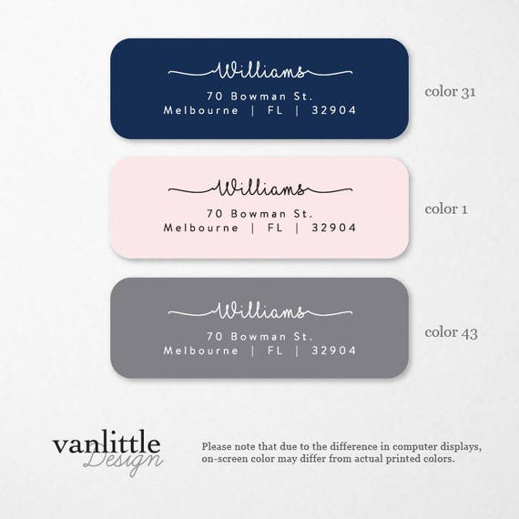 personalized return address labels custom self adhesive etsy