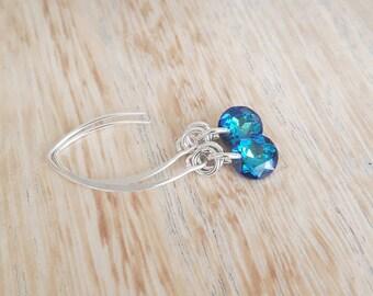 Blue Earrings   Swarovski Earrings   Sterling Jewelry  Sterling Earrings    Dangle Earrings   Free Shipping Canada   Ready to Ship 948ae1b3e4