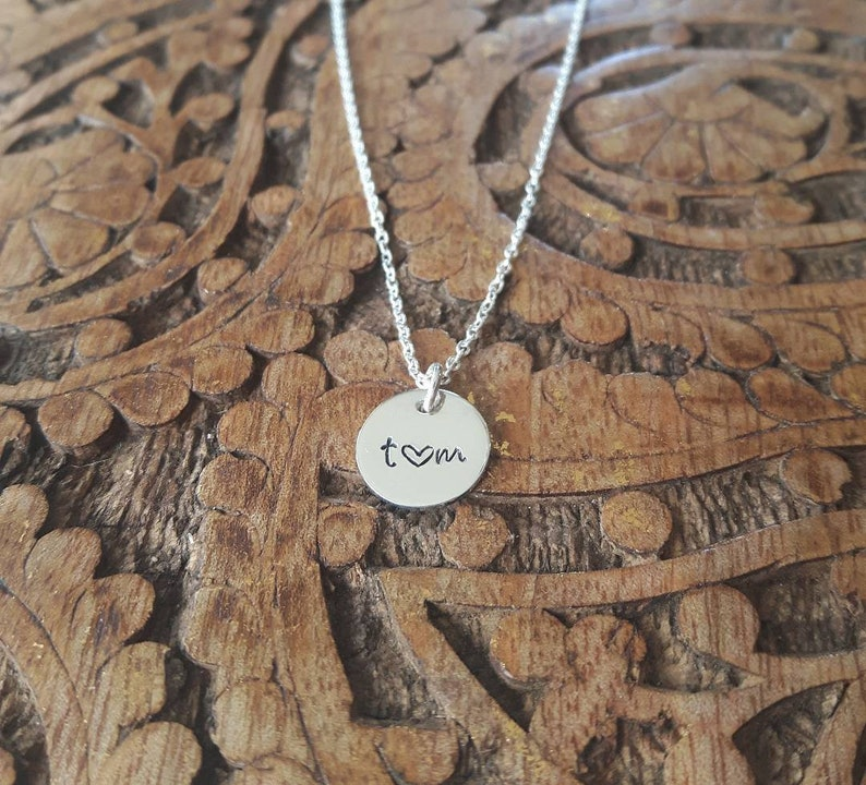 Gifts for her Personalized Initial Necklace Sterling Silver Free Ship Canada