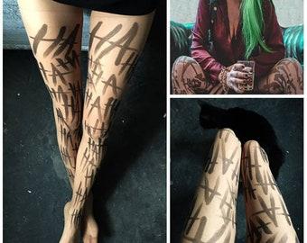 Joker Hahaha Tattoo Etsy