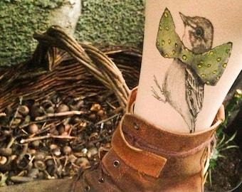 Bird  unique socks, handmade