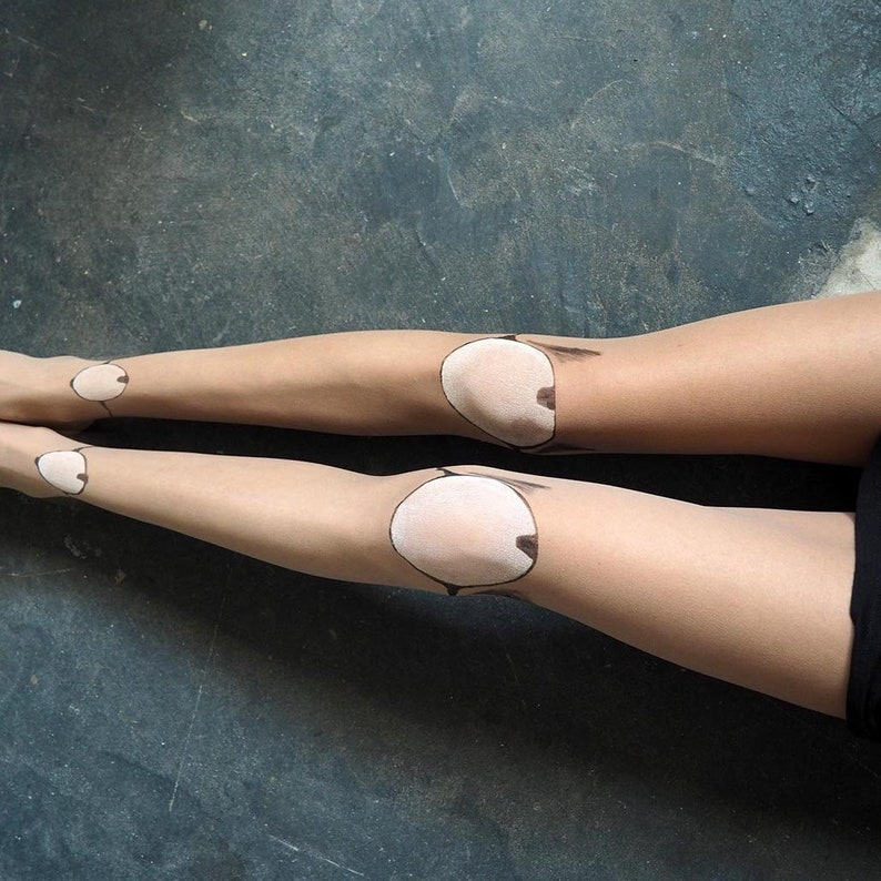 Doll Collants BJD Lolita Punk Creepy Fake Plastic Leg Knee
