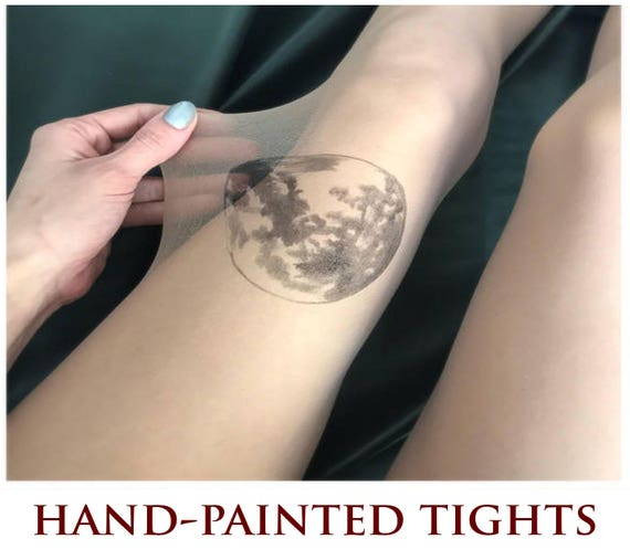 tatouage lune collants collants tattoo etsy. Black Bedroom Furniture Sets. Home Design Ideas