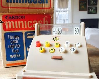 Vintage Toy cash register | till | vintage nursery | baby shower | gender-neutral | baby room | made in England |photography prop |