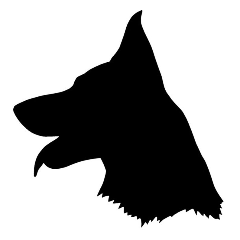 German Shepherd Silhouette Vinyl Decal Sticker Dog Etsy German shepherd silhouette vector badge round logo template. german shepherd silhouette vinyl decal sticker dog