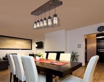 Farmhouse Decor | Pendant Lighting | Wood Light | Kitchen Island Light |  Chandelier | Dining Room Light | Wood Fixture | Flush Mount Light