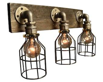 vanity light - home lighting - light fixture - bathroom light - house living - edison bulb - vanity lamp - home decor - wood vanity light