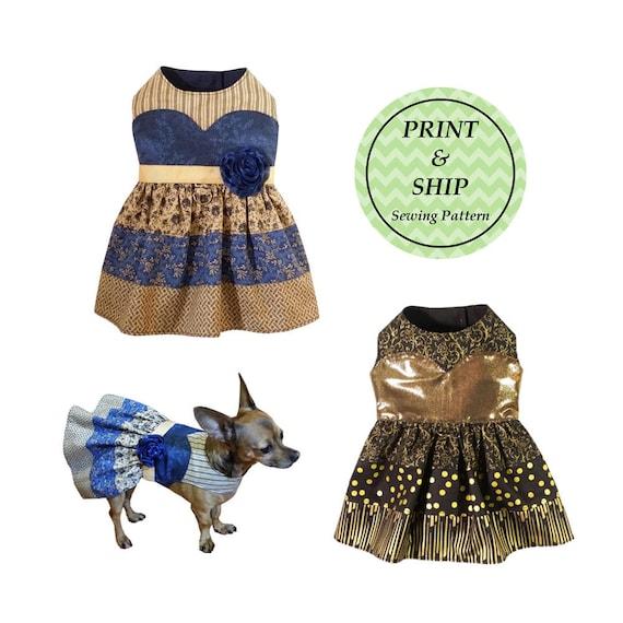 Vestido impreso Camila perro patrón de costura PDF patrones | Etsy