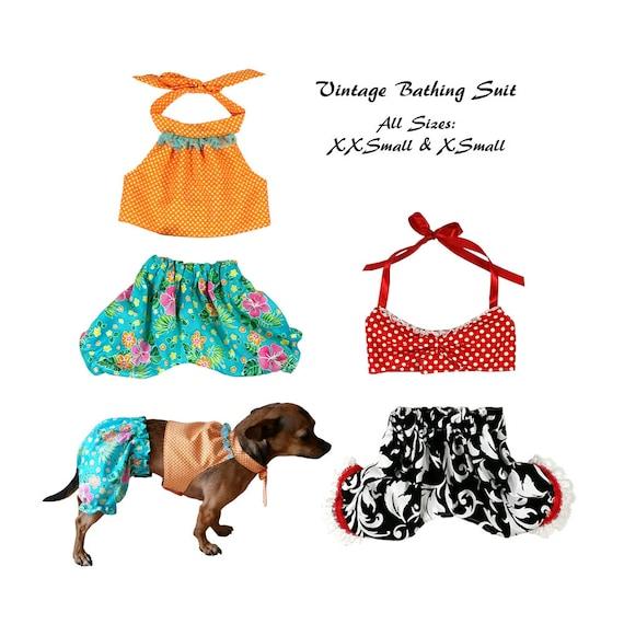 Vintage Dog Bathing Suit Pattern All Sizes Dog Clothes Etsy