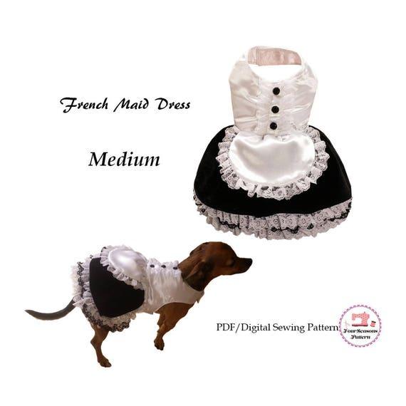 French Maid Dog Dress Medium Dog Clothes Sewing Pattern Pdf Etsy