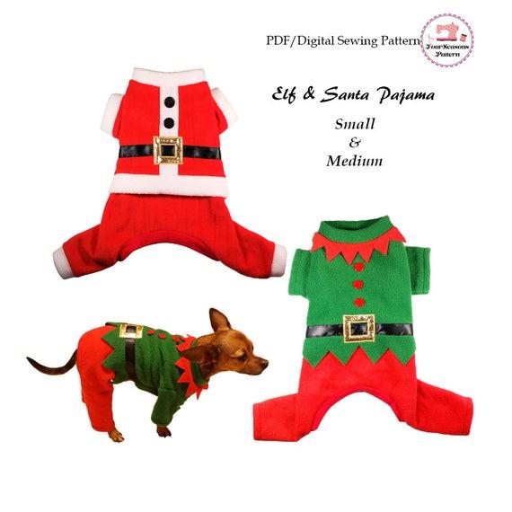 Elf y Santa pijama-pequeño y patrón de media-costura PDF | Etsy