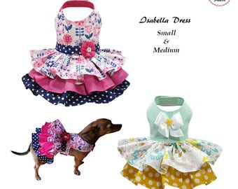 Isabella Dog Dress SMALL & MEDIUM Sewing Pattern PDF, Dog Clothes Pattern, Pet Clothes Tutorial and Sewing Pattern