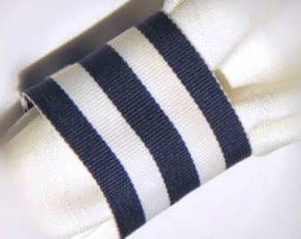 25 NAVY and WHITE STRIPED Napkin Rings, Nautical Theme, Navy and White Theme, Blue and White, Wedding, Home Table Decor, Event, Celebration
