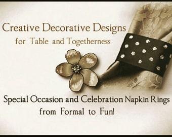 Serviette Ringe benutzerdefinierte Party Dekoration, benutzerdefinierte Hochzeit Dekor, individuelle Tischdekorationen, formellen Anlass & besondere Anlässe dekorative Serviettenringe
