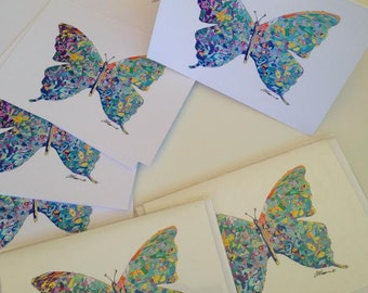 Butterfly Card Greeting Card Greeting Cards Blank Card Birthday Card Flutterby