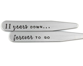 Groom Gift Or 11th Anniversary Keychain Wedding Date And