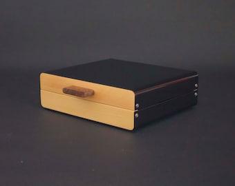 Modern Watch Box, Wood Watch Box For Men, Watch Case, Mens Personalized Gifts, Black Watches Box, Wooden Watchbox 8, Watch Storage Box