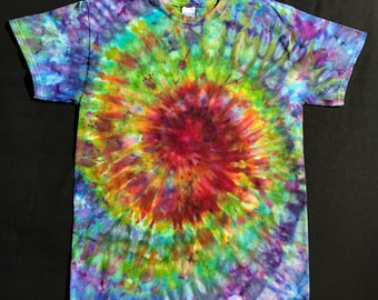 a6387e8a4911 Size Medium Tie Dye Shirt - Ice Dyed T-Shirt - Adult Medium Tie Dye -  Rainbow Tie Dye T-Shirt - Trippy Ice Dye Shirt - Medium Ice Dye Shirt