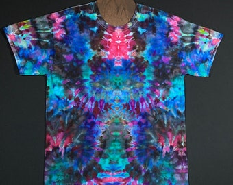 960b82620864 Size Large Tie Dye Shirt • Psychedelic Symmetry Ice Dye Design • Symmetrical  Tie Dye T-Shirt • Size Adult Large Tie Dyed T-Shirt