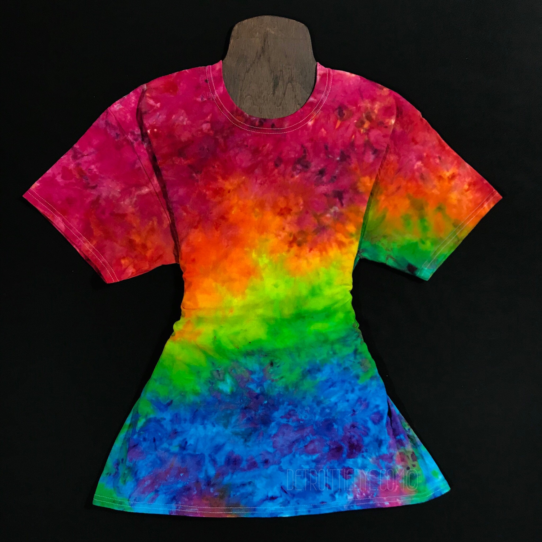 Rainbow Splatter Tie Dye Shirt Custom Made Tie Dye Ice Etsy