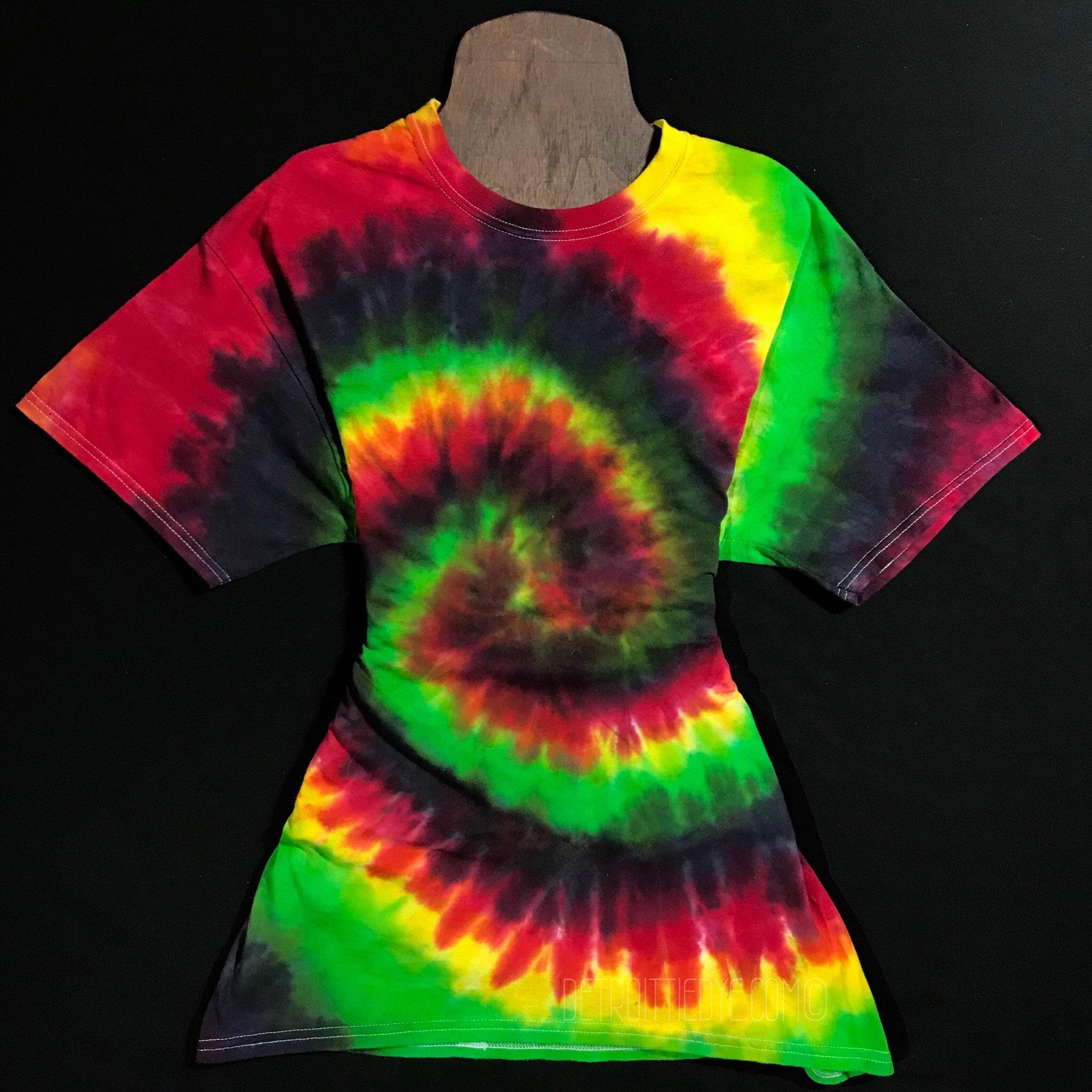 Custom Made Tie Dye Shirt Rasta Tie Dye T Shirt Made To Etsy