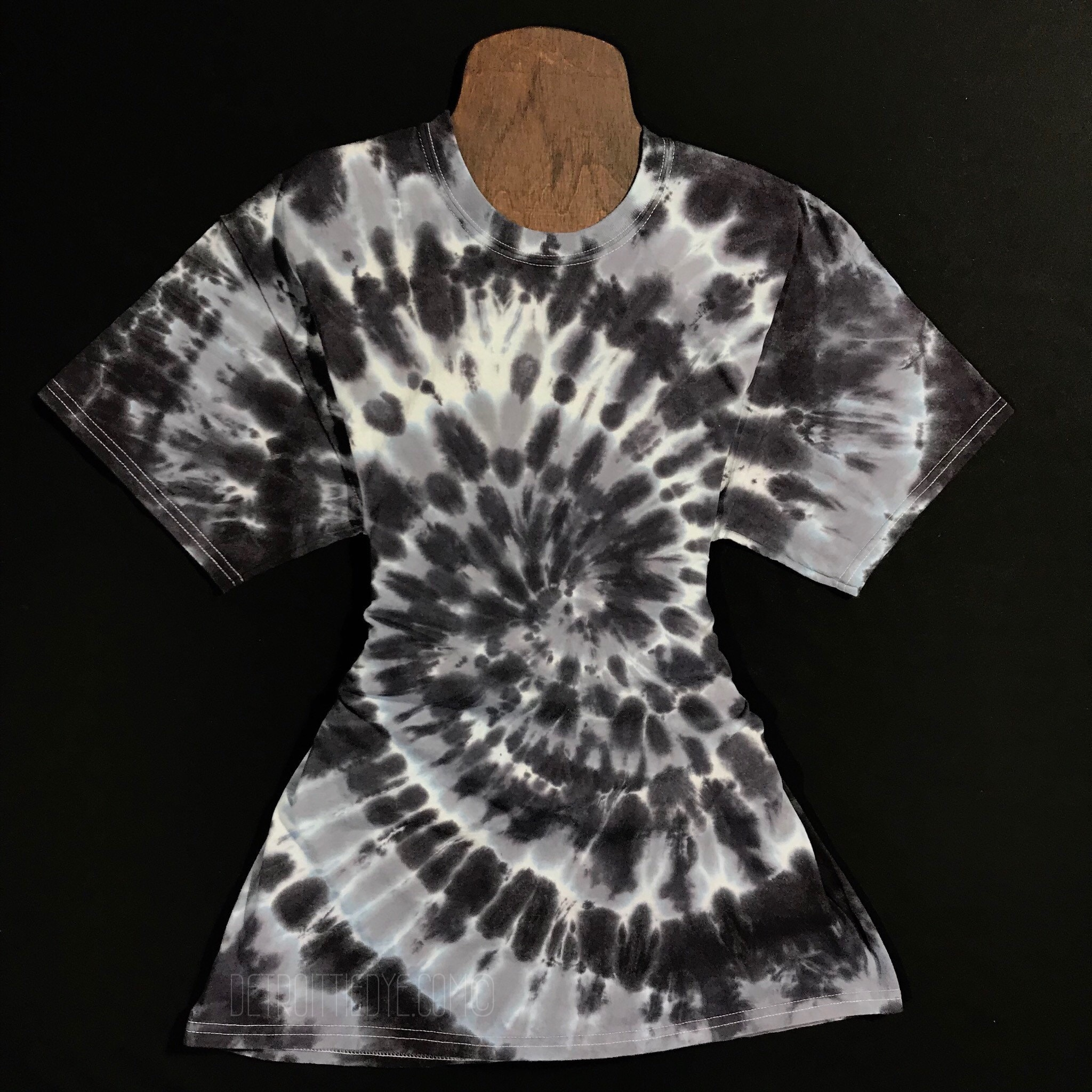 Monochrome Tie Dye Shirt Custom Made Tie Dye T Shirt Black Etsy