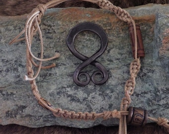 Forged Troll Cross -  Viking Jewelry