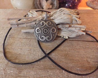 Celtic Knotwork Volute Amulet -  Celtic Jewelry