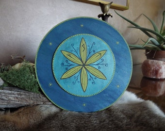 Hand painted Glukstern (Star of Luck) Rune Decor for Becoming and Light Consciousness