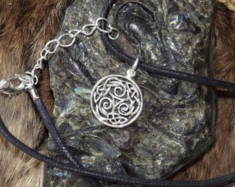Small Silver Triskell Pendant Celtic Jewelry
