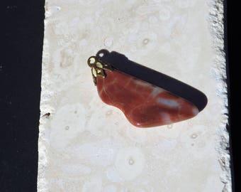 Carnelian - Orange Chalcedony pendant