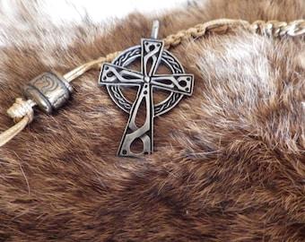 Celtic Cross Amulet  Celtic Pendant Celtic Jewelry