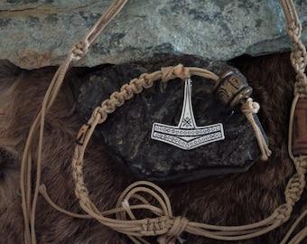 Medium Danish Silver Thor's Hammer Pendant -  Mjolnir Pendant