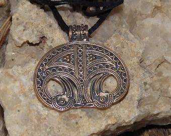 Viking Lunula Bronze Pendant - Viking Pendant