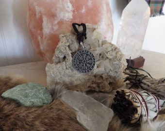 Vegvisir Rune Pendant    Asatru Jewelry