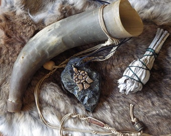 Viking Raven Hook Pendant  Huginn Muninn  Asatru Jewelry